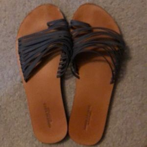 AEO scrappy leather sandals size 8 NWOT